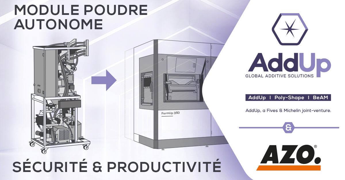 AZO partenaire d'AddUp - gestion de poudres métalliques fines