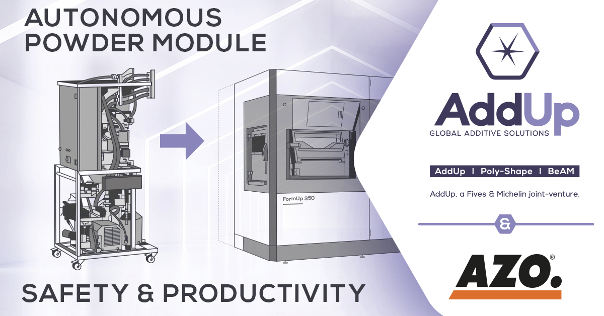 AZO partnership 3D printer autonomous powder module