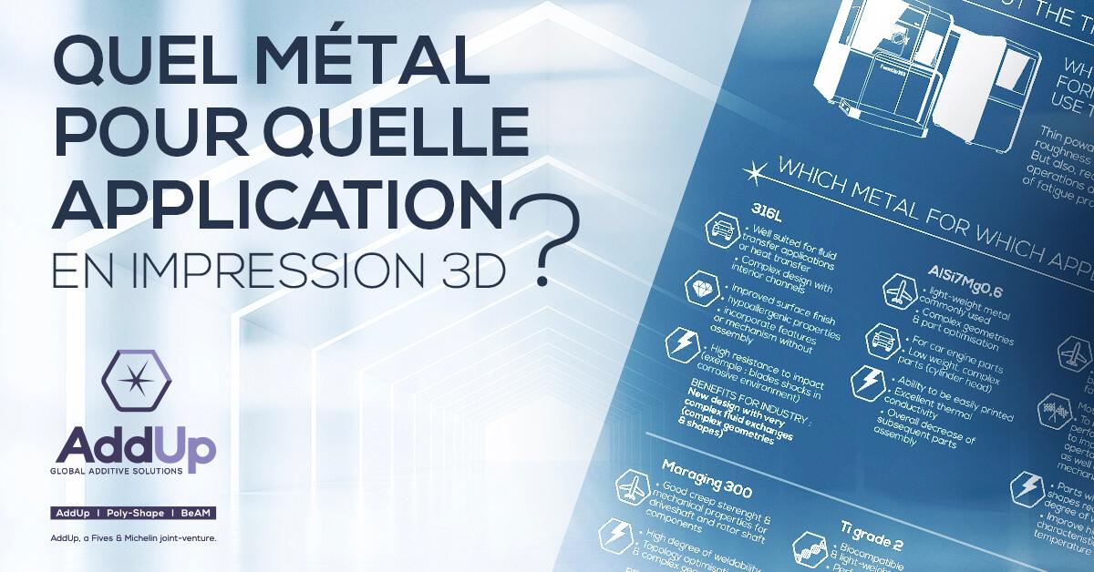 quel matériau choisir en fabrication additive métallique