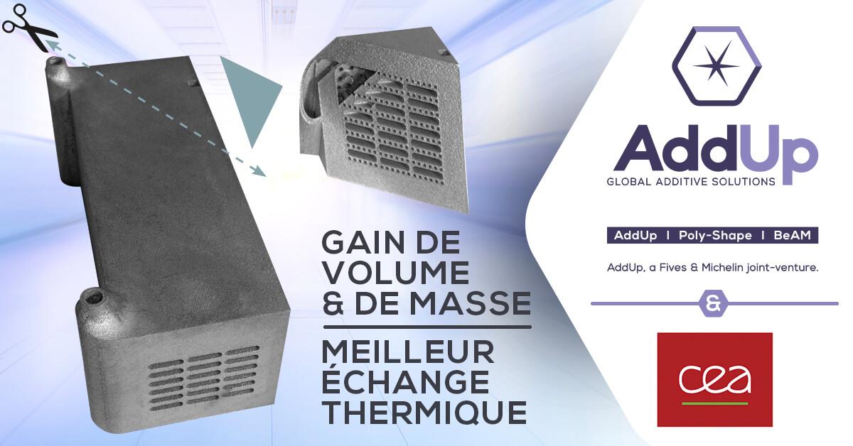 échangeur réacteur méthanation fabrication additive CEA